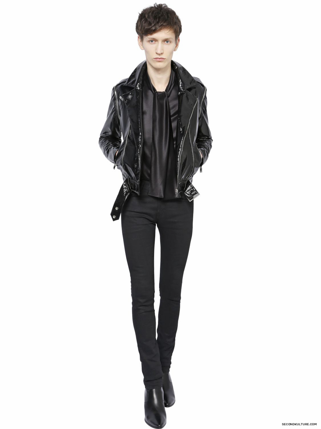 Saint-Laurent-Perfecto- Zipper-Vinyl-Biker-Jacket-Fall-Winter-2015-2