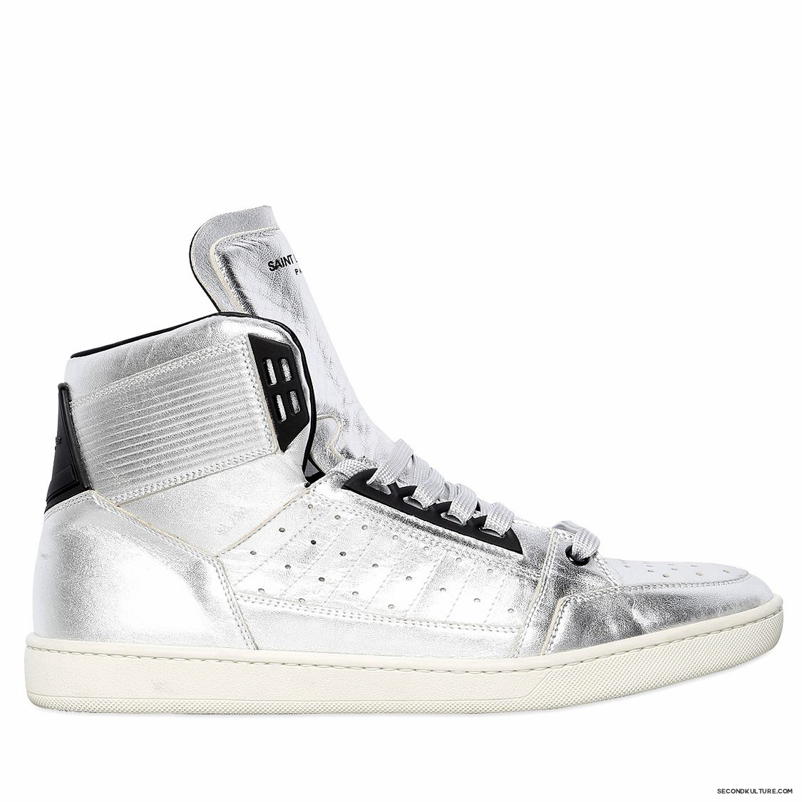 Saint-Laurent-Silver-Lame-Leather-High-Top-Sneakers-Fall-Winter-2015-1