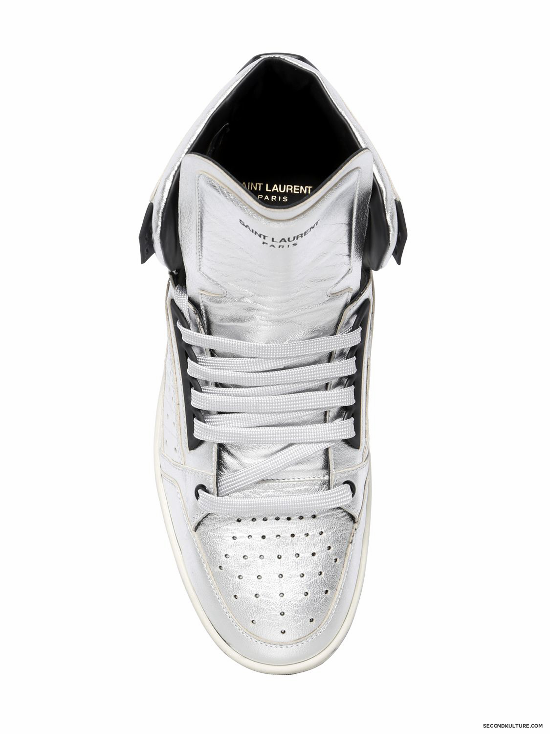 Saint-Laurent-Silver-Lame-Leather-High-Top-Sneakers-Fall-Winter-2015-2