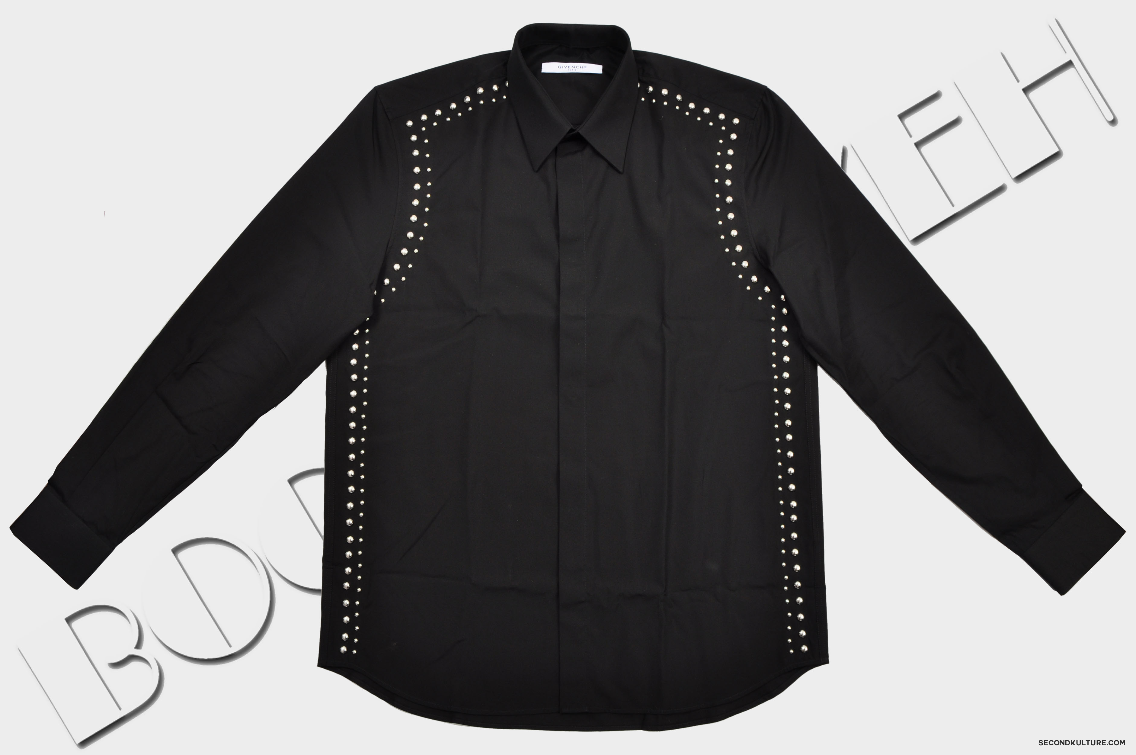 Givenchy-Black-Metal-Studded-Shirt-Pre-Fall-2015-15F6202300