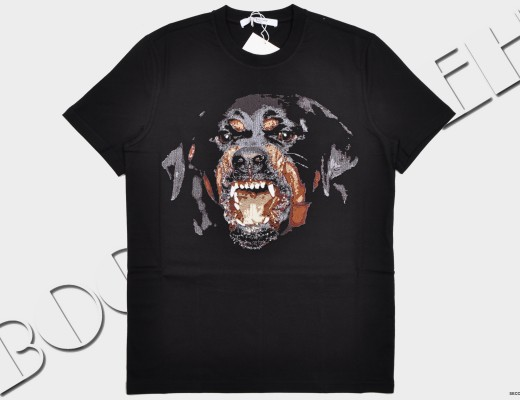 Givenchy-Black-Rottweiler Embroidery-Cuban-Fit-T-Shirt-Pre-Fall-2015-15F7217651