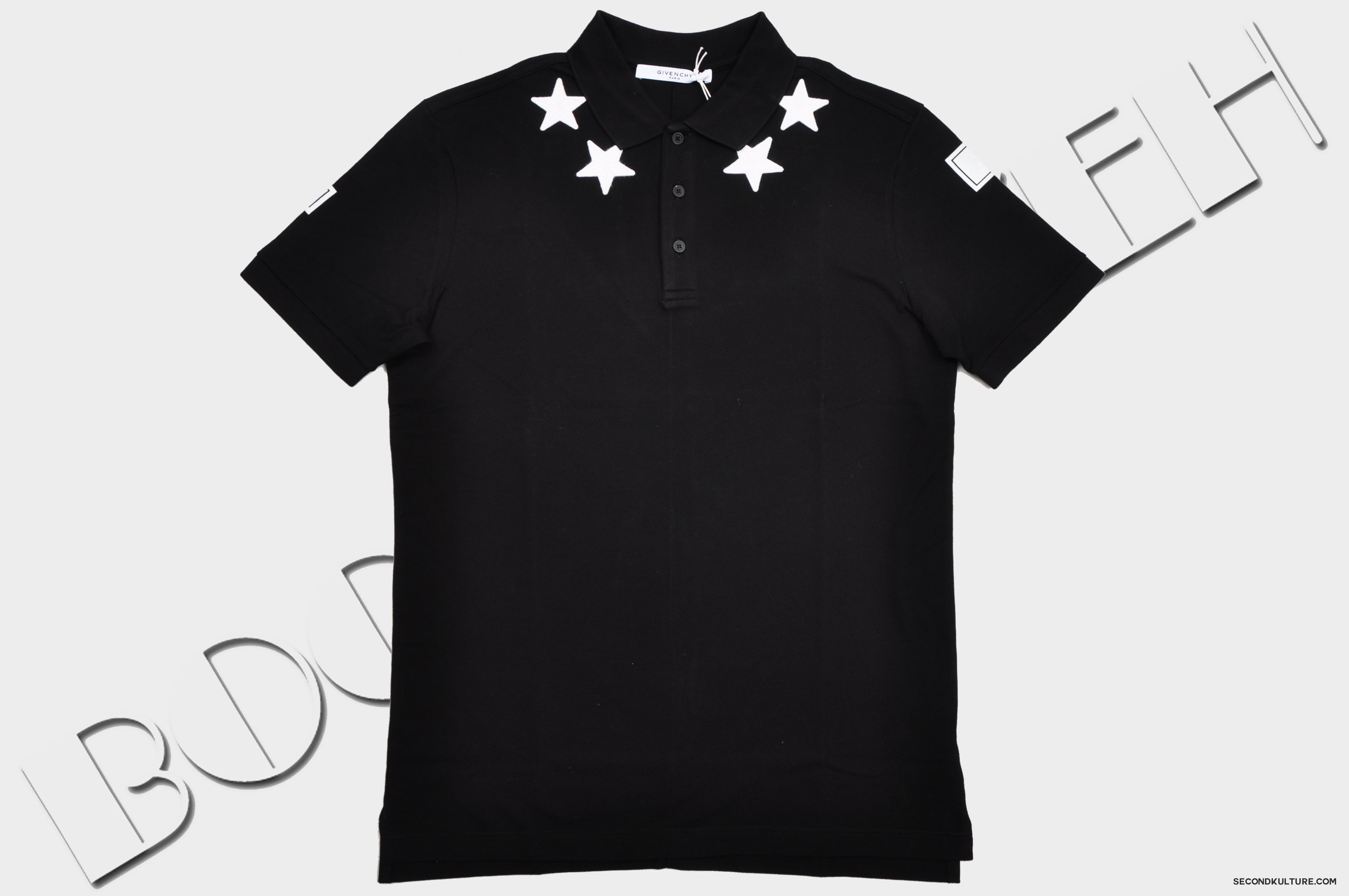 Givenchy-Black-Stars-Neckline-Embroidery-Cuban-Fit-Polo-Shirt-Pre-Fall-2015-15F7102701