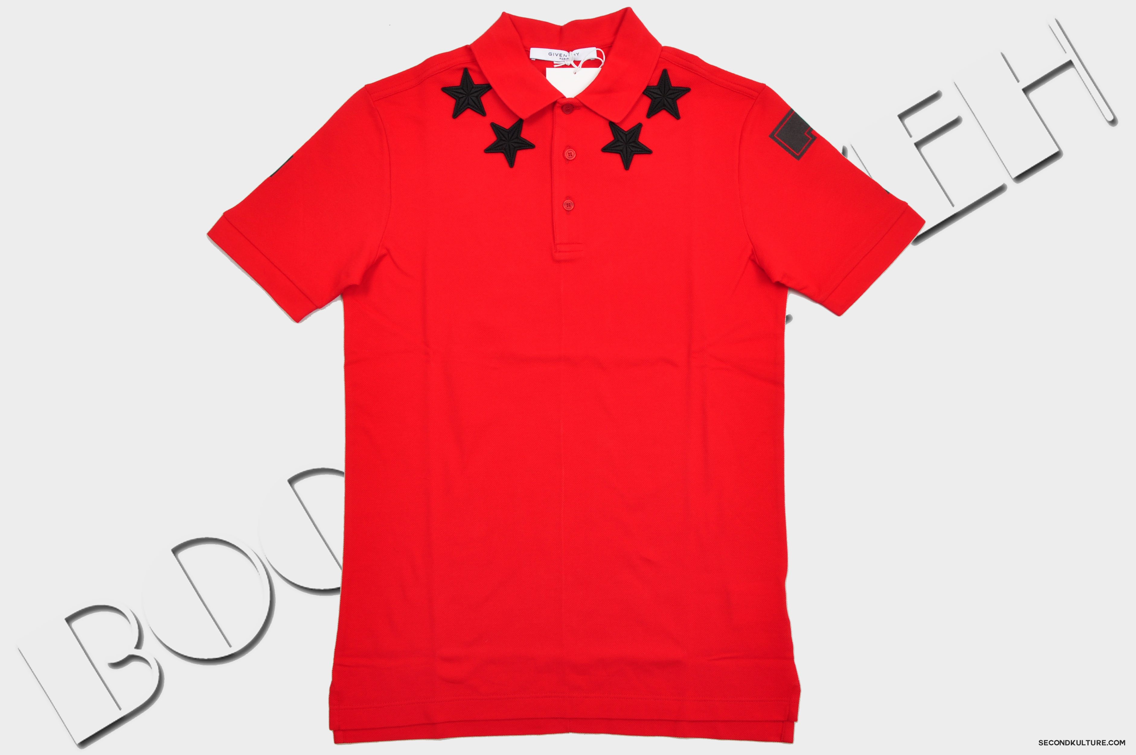 Givenchy-Red-Stars-Neckline-Embroidery-Cuban-Fit-Polo-Shirt-Pre-Fall-2015-15F7102701