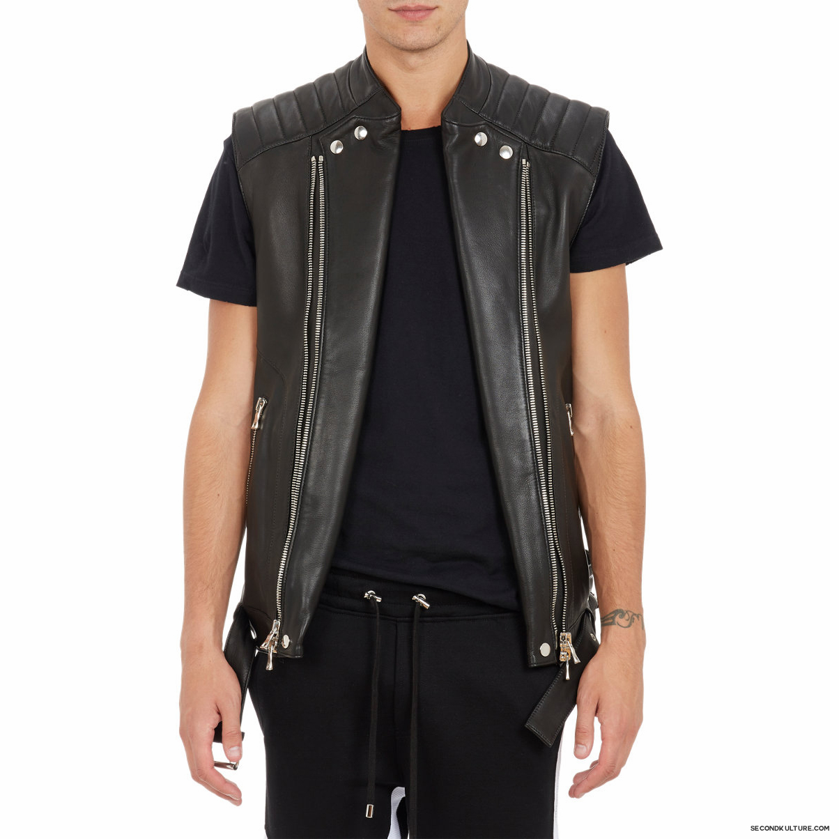 Balmain-Biker-Leather-Moto-Vest-1
