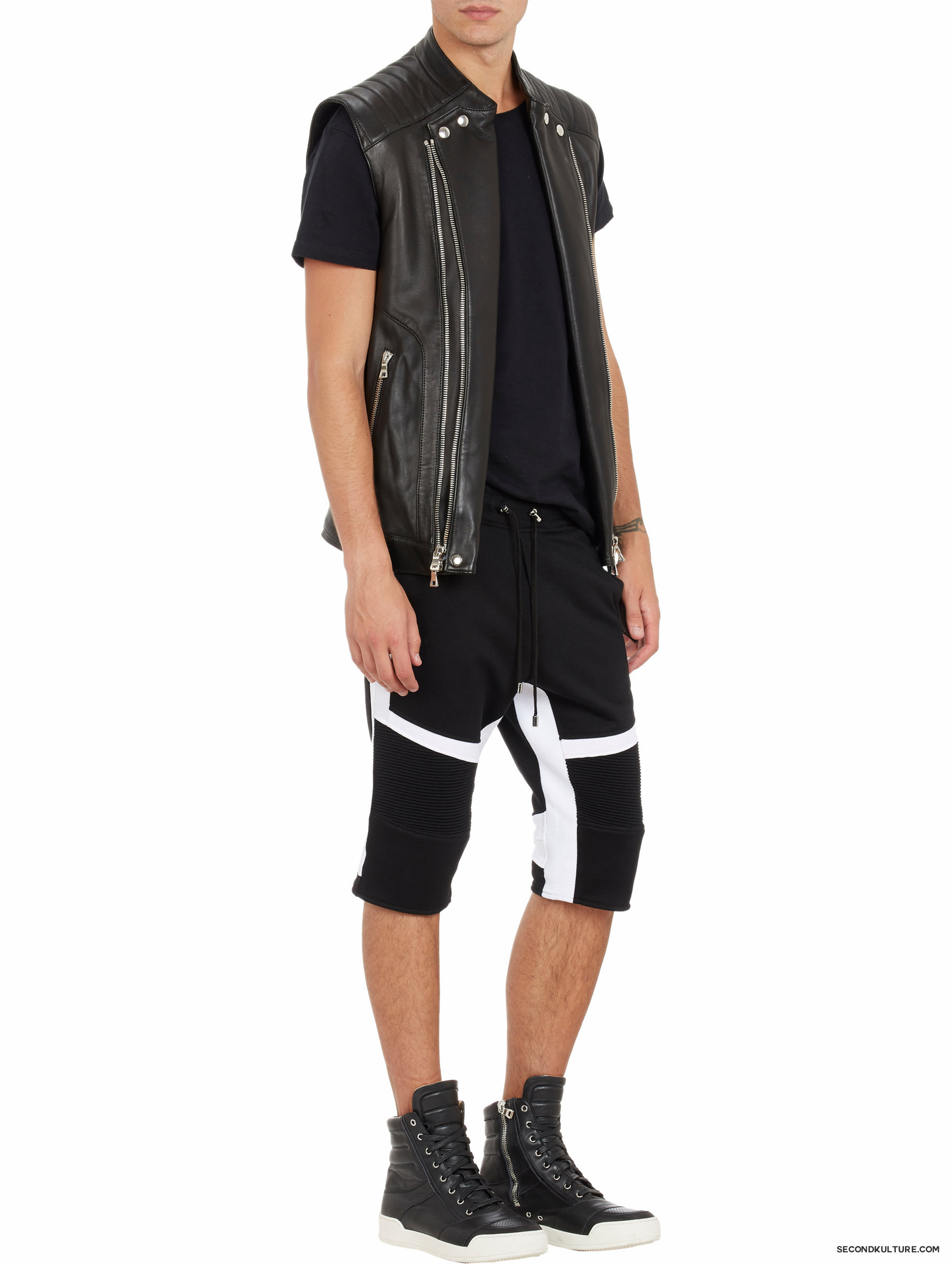 Balmain-Biker-Leather-Moto-Vest-3