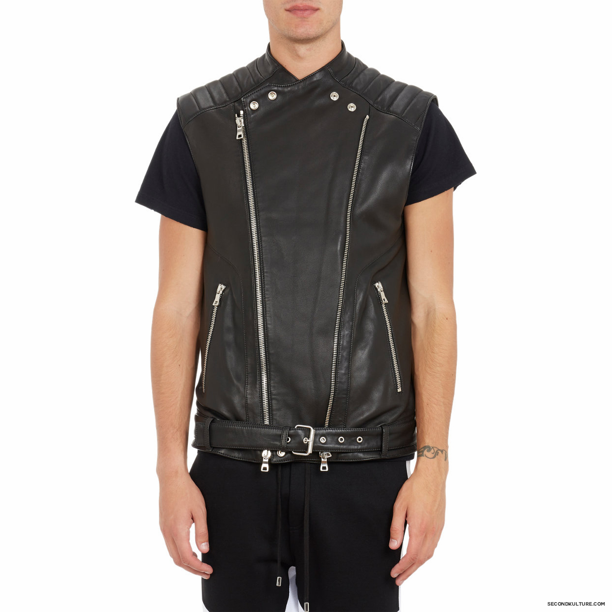 Balmain-Biker-Leather-Moto-Vest-5