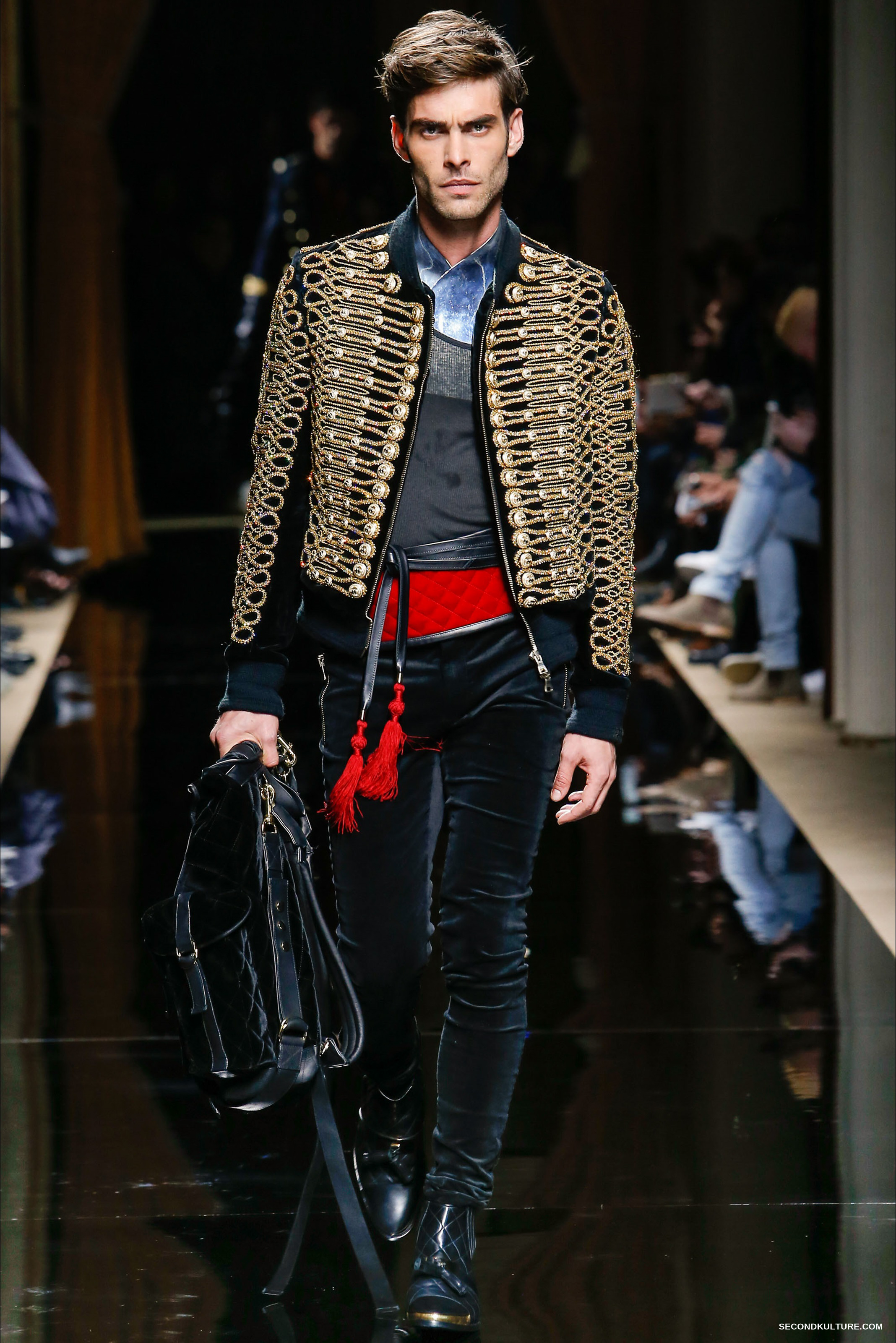 Balmain Fall Winter 2016 Menswear - Look 1/63