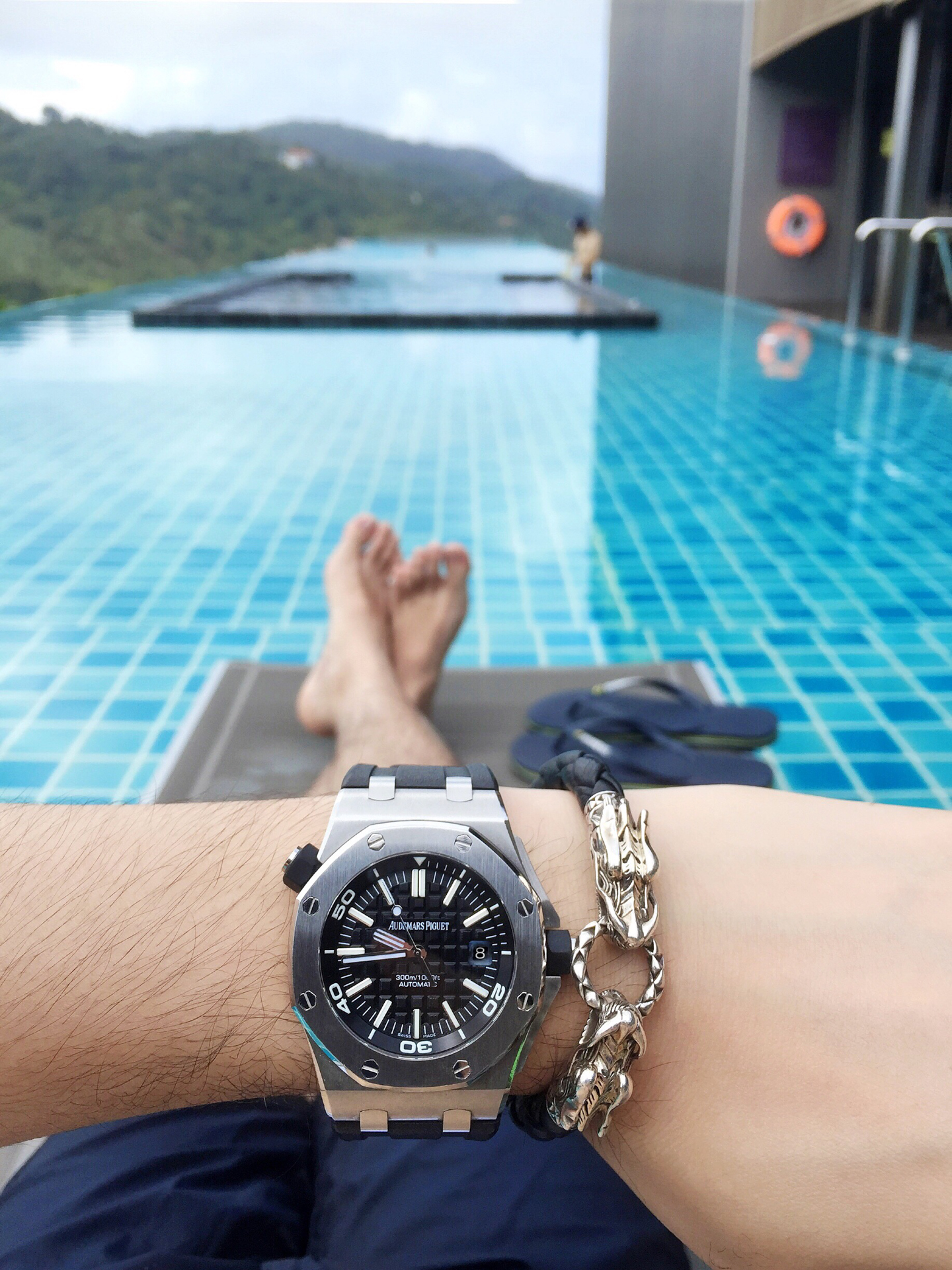 Audemars Piguet Royal Oak Offshore Diver and John Hardy Naga Bracelet