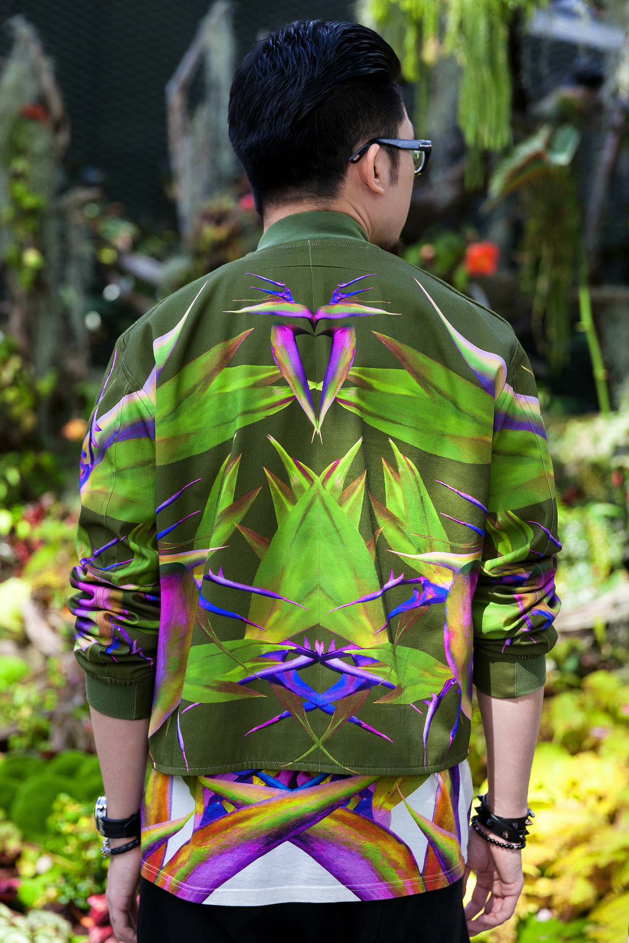 Givenchy Birds of Paradise Bomber Jacket T-Shirt